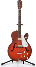 Musical Instruments:Electric Guitars, Vintage Harmony Rocket Red Archtop Electric Guitar # N/A....