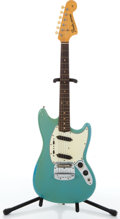 Musical Instruments:Electric Guitars, Circa 1964 Fender Mustang Daphne Blue Electric Guitar #L35611. ...