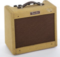 Musical Instruments:Amplifiers, PA, & Effects, 1968-1974 Tweed Fender Bronco Amplifier, Serial # Lo T-079039...