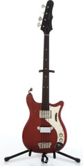 Musical Instruments:Bass Guitars, Circa 1964 Epiphone Cherry Electric Bass Guitar #154773....