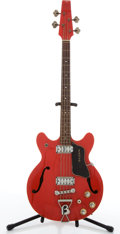 Musical Instruments:Bass Guitars, Vintage Baldwin 704 Red Archtop Electric Bass Guitar #70.694....