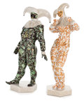 Ceramics & Porcelain, Continental:Contemporary   (1950 to present)  , A PAIR OF HEREND PORCELAIN CARNIVAL FIGURES . Herend, Hungary,designed 1988. Marks: Man: impressed HEREND, 15002, 2, 52...(Total: 2 Items)