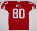 Football Collectibles:Uniforms, Jerry Rice Signed Jersey....
