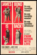 "Movie Posters:James Bond, From Russia with Love (United Artists, 1964). Poster (40"" X 60"") Style B. James Bond.. ..."