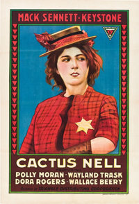 "Cactus Nell (Triangle, 1917). One Sheet (27"" X 41""). Comedy"