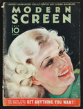 "Movie Posters:Sexploitation, Modern Screen (Dell, July,1933). Magazine (114 Pages, 8.5"" X 11.5""). Miscellaneous.. ..."