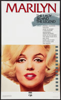 """Movie Posters:Miscellaneous, Marilyn Monroe (CBS/Fox, 1987). Video Poster (22.5"""" X 37.5""""). Miscellaneous.. ..."""