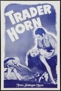"Movie Posters:Adventure, Trader Horn (MGM, R-1940s). One Sheet (27"" X 41""). Adventure.. ..."