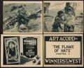 "Movie Posters:Serial, Winners of the West (Universal, 1921). Title Lobby Cards (2) andScene Cards (2) (11"" X 13.25"" and 11"" x 14""). Chapter 4 - -...(Total: 4 Items)"
