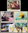 "Movie Posters:War, The Guns of Navarone Lot (Columbia, 1961). Lobby Cards (5) (11"" X14"") and Window Card (14"" X 17""). War.. ... (Total: 6 Items)"