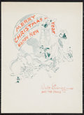 "Movie Posters:Animated, Walt Disney (Disney, 1941). Christmas Card (7.5"" X 10.25"").Animated.. ..."