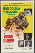 "Movie Posters:Horror, Mad Doctor of Blood Island/Blood Demon Combo (Hemisphere Pictures, 1968). One Sheet (27"" X 41""). Horror.. ..."