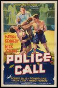 "Movie Posters:Crime, Police Call (Showmens Pictures, 1933). One Sheet (27"" X 41"").Crime.. ..."