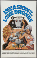 "Movie Posters:Adult, Invasion of the Love Drones (Drones Films, 1977). One Sheet (27"" X 41""). Adult.. ..."