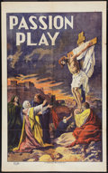 "The Passion Play (N. Morgillo, R-1908). One Sheet (27.25"" X 44""). Drama"