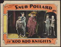 "Koo Koo Knights (Weiss Brothers Artclass Pictures, 1920). Lobby Card (11"" X 14""). Comedy"