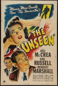 """Movie Posters:Horror, The Unseen (Paramount, 1944). One Sheet (27"""" X 41""""). Horror.. ..."""