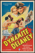 "Movie Posters:Crime, Dynamite Delaney (Imperial, 1936). One Sheet (27"" X 41""). Crime.. ..."