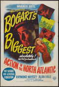 "Movie Posters:War, Action in the North Atlantic (Warner Brothers, 1943). AustralianOne Sheet (27"" X 40""). War.. ..."