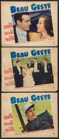 "Movie Posters:Adventure, Beau Geste (Paramount, 1939). Lobby Cards (3) (11"" X 14"").Adventure.. ... (Total: 3 Items)"