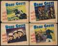 "Movie Posters:Adventure, Beau Geste (Paramount, 1939). Lobby Cards (4) (11"" X 14"").Adventure.. ... (Total: 4 Items)"