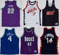 Basketball Collectibles:Uniforms, Basketball Stars Signed Jerseys Lot of 6....