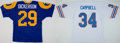 Football Collectibles:Uniforms, Eric Dickerson and Earl Campbell Signed Jerseys Lot of 2....