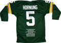 Football Collectibles:Uniforms, Paul Hornung Signed Jersey....