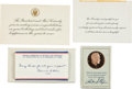 Miscellaneous Collectibles:General, John F. Kennedy and Richard Nixon Memorabilia Lot of 3....