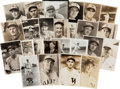 Baseball Collectibles:Photos, Baseball Legends George Burke Original Photographs Lot of 20+....
