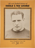 """Football Collectibles:Publications, Circa 1926 """"Life and Football History of Harold E. Red Grange Publication...."""