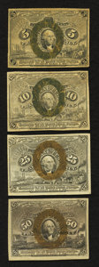 Fractional Currency:Second Issue, Four Second Issue Notes.. ... (Total: 4 notes)