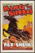 """Movie Posters:Western, King of the Sierras (Grand National, 1938). One Sheet (27"""" X 41"""") Flat Folded. Western.. ..."""