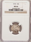Barber Dimes, 1910 10C MS66 NGC....