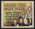"""Movie Posters:Drama, Angels With Dirty Faces (Other Company, 1938). Title Lobby Card(11"""" X 14""""). Crime Drama. Starring James Cagney, Pat O'Brien..."""