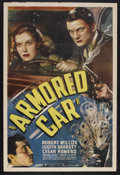 "Movie Posters:Crime, Armored Car (Universal, 1937). One Sheet (27"" X 41""). Crime.Starring Robert Wilcox, Judith Barrett, Cesar Romero, Irving Pi..."