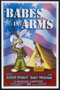 """Movie Posters:Animated, Babes in Arms (Disney, 1988). One Sheet (27"""" X 41""""). Animated Comedy. Starring Roger Rabbit and Baby Herman. Directed by R.K..."""