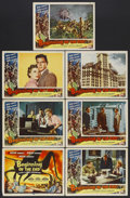 "Movie Posters:Science Fiction, Beginning of the End (Republic, 1957). Title Lobby Card (11"" X 14"")and Lobby Cards (6) (11"" X 14""). Science Fiction. Starri... (Total:7 Item)"