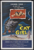 "Movie Posters:Horror, The Cat Girl (AIP, 1957). One Sheet (27"" X 41""). Horror. Starring Barbara Shelley, Robert Ayres, Kay Callard, Paddy Webster ..."