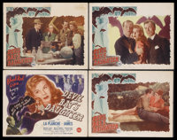 """Devil Bat's Daughter (Producers Releasing Corporation, 1946). Title Lobby Card (11"""" X 14"""") and Lobby Cards (3)..."""