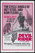 "Movie Posters:Action, Devil Rider (Goldstone Film Enterprises, 1971). One Sheet (27"" X 41""). Action. Starring Sharon Mahon, Johnny Pachivas and Ri..."