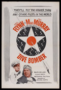 """Movie Posters:Action, Dive Bomber (Warner Brothers, R-1950s). One Sheet (27"""" X 41""""). Drama. Starring Errol Flynn, Fred MacMurray, Ralph Bellamy, A..."""