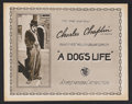 "Movie Posters:Comedy, A Dog's Life (First National, 1918). Title Lobby Card (11"" X 14"").Comedy. Starring Charles Chaplin, Edna Purviance, Syd Cha..."