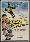 "Movie Posters:War, Eagle Squadron (Universal, 1942). One Sheet (27"" X 41""). War.Starring Robert Stack, Diana Barrymore, John Loder, Eddie Albe..."