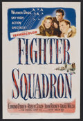 "Movie Posters:War, Fighter Squadron (Warner Brothers, 1948). One Sheet (27"" X 41""). War. Starring Edmond O'Brien, Robert Stack, John Rodney, To..."
