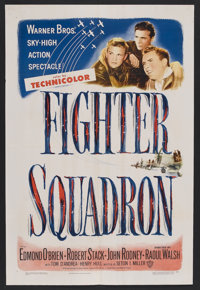"Fighter Squadron (Warner Brothers, 1948). One Sheet (27"" X 41""). War. Starring Edmond O'Brien, Robert Stack, J..."