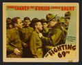 "Movie Posters:War, The Fighting 69th (Warner Brothers, 1940). Lobby Card (11"" X 14"").War. Starring James Cagney, Pat O'Brien, Alan Hale, Georg..."