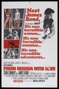 "Movie Posters:James Bond, From Russia With Love (United Artists, 1964). One Sheet (27"" X 41"")Style B. James Bond Action. Starring Sean Connery, Danie..."