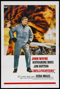 """Movie Posters:Action, Hellfighters (Universal, 1969). One Sheet (27"""" X 41""""). Action. Starring John Wayne, Katharine Ross, Jim Hutton and Vera Mile..."""