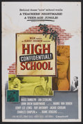 """Movie Posters:Action, High School Confidential (MGM, 1958). One Sheet (27"""" X 41""""). Teen exploitation at its best! Russ Tamblyn, Mamie Van Doren an..."""